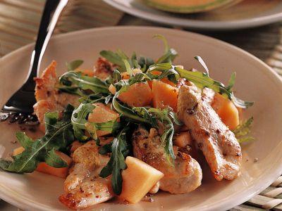 insalata di pollo e melone ricetta