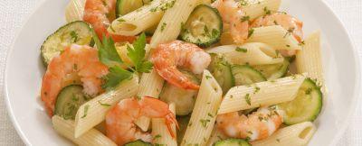 pasta zucchine e gamberetti ricetta