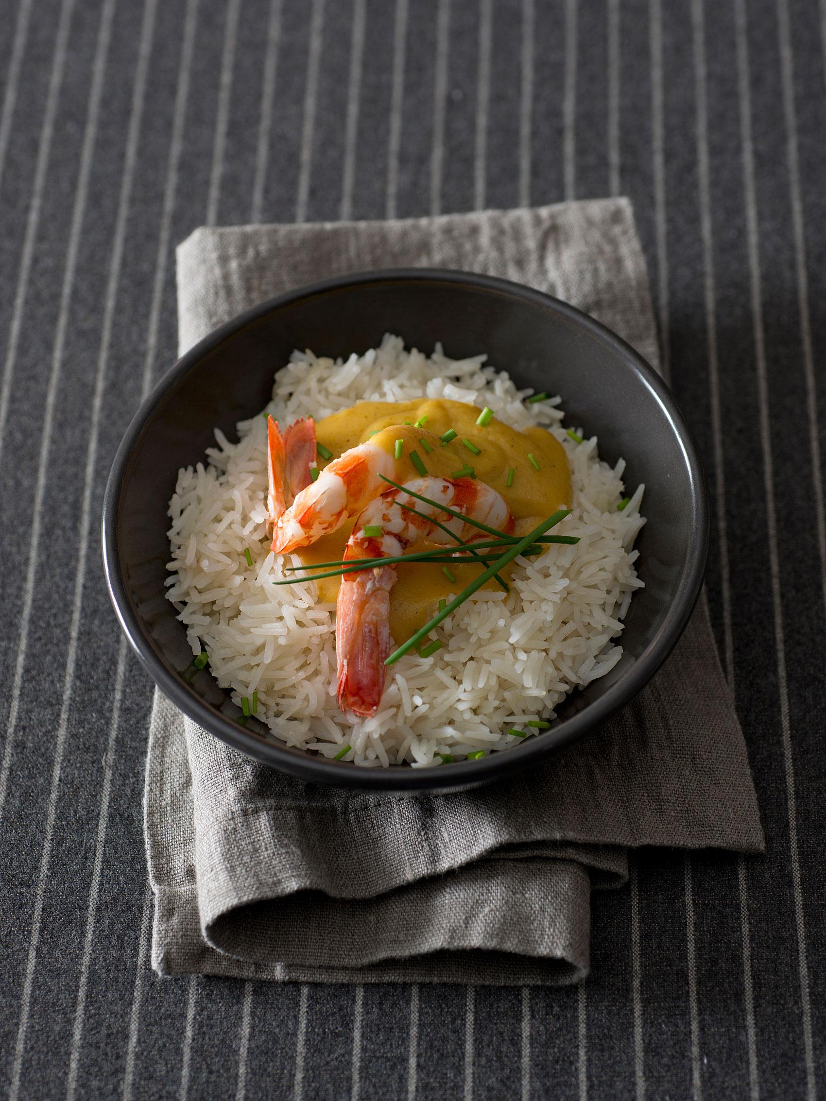 Riso basmati al curry con gamberi sale pepe for Cucinare basmati