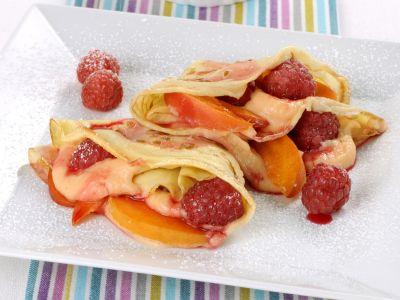 crepes lamponi albicocche ricetta