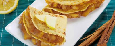 crepes alle mele caramellate ricetta