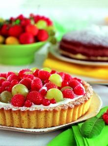 Crostata di frutta alla panna