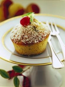 Muffin con il cocco e i pistacchi