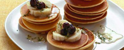 pancake con frutta e miele ricetta