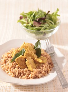 Pollo al curry con cous cous