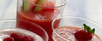 succo di anguria e pesche ricetta