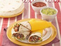 tortillas arrotolate con carne