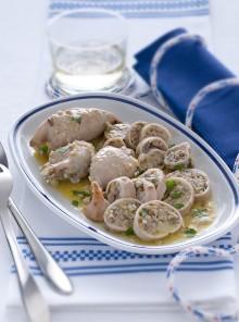 Totani ripieni di olive e capperi