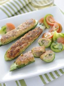 Zucchine ripiene alla salsiccia