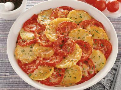 patate al forno con pomodori ricetta