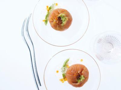 Gelatina di spumante con bocconcini di salmone