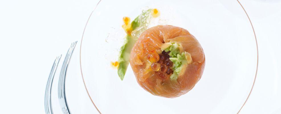 gelatina di spumante con bocconcini di salmone Sale&Pepe