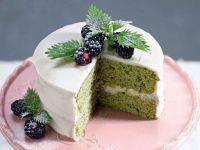 torta alle ortiche con crema di ricotta