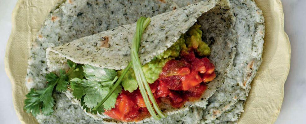 tortilla agli spinaci con picadillo veg