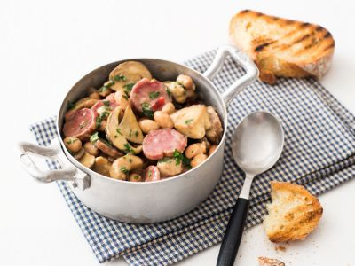 fagiolata con porcini e salsiccia ricetta