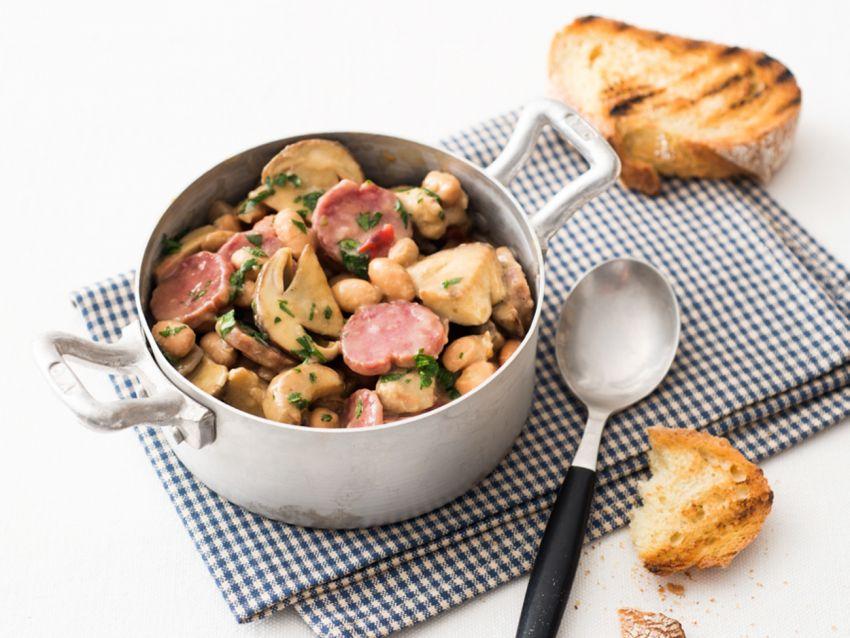 fagiolata con porcini e salsiccia Sale&Pepe riceta