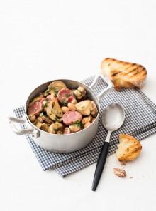 Fagiolata con porcini e salsiccia