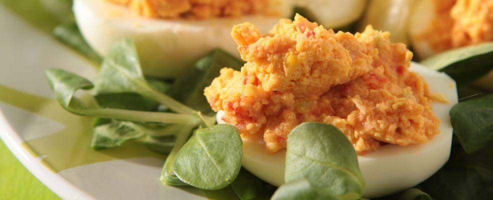 uova ripiene con le verdure