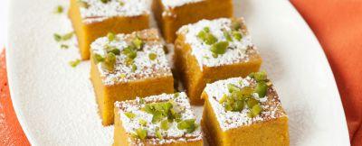 quadrotti di torta di zucca ricetta