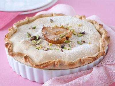 tarte con ricotta pere e pistacchi