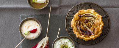 miniquiche di radicchio e pancetta