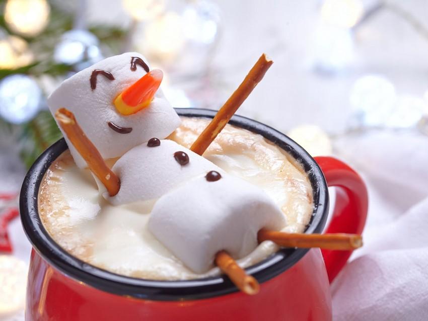 pupazzo di neve biscotto