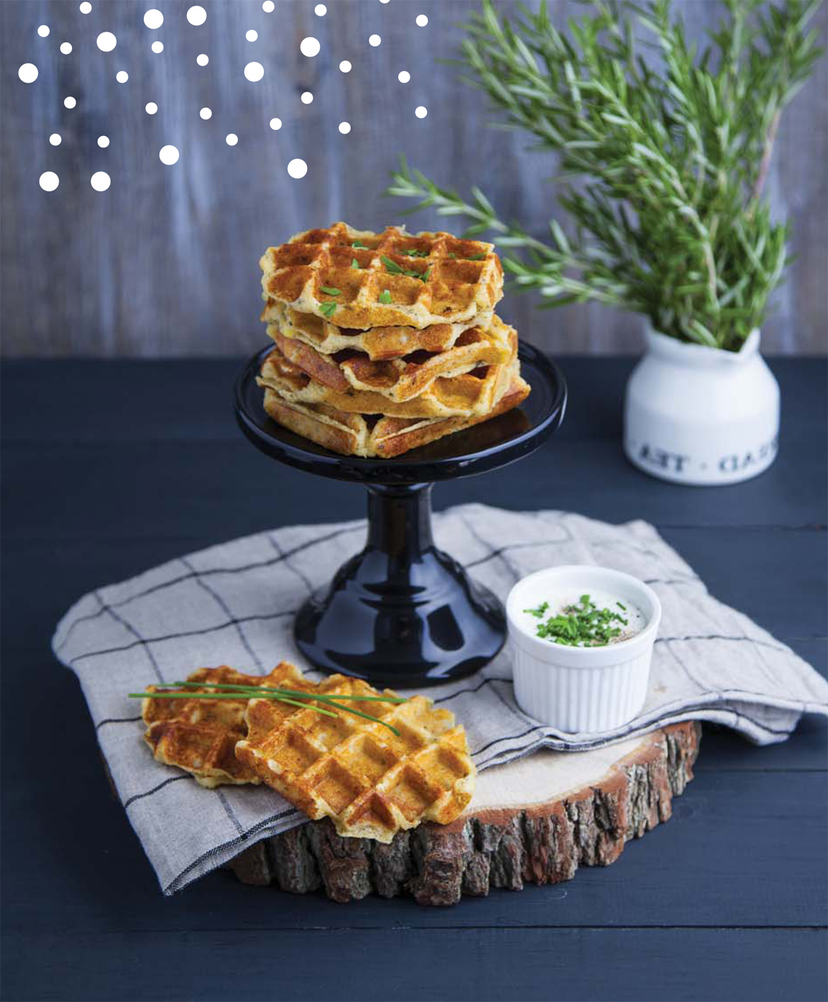 Waffle salati di patate alle erbe | Sale&Pepe