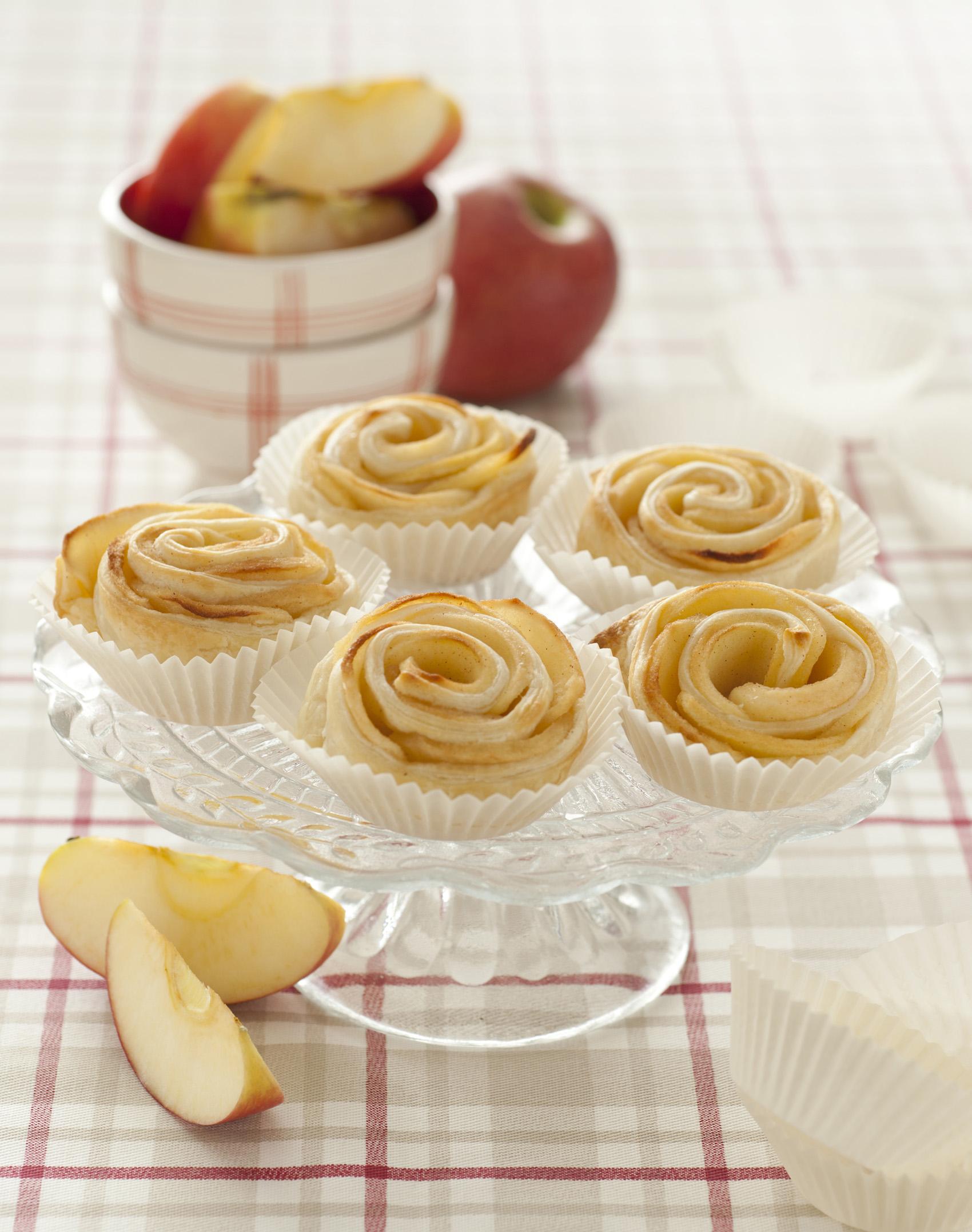 Roselline di sfoglia e mele - Sale&Pepe