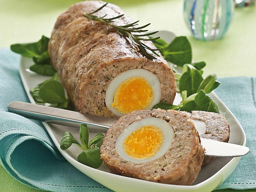 polpettone con uova sode