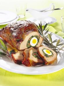 Tasca di vitello con uova sode