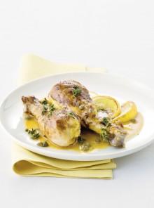 Cosce di pollo al limone e capperi