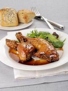 Cosce di pollo al sesamo