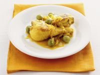Cosce di pollo alle olive in padella