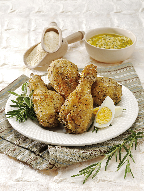 Cosce di pollo fritte alla senape sale pepe - Come cucinare le cosce di pollo in padella ...