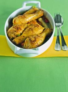 Cosce di pollo marinate alle spezie