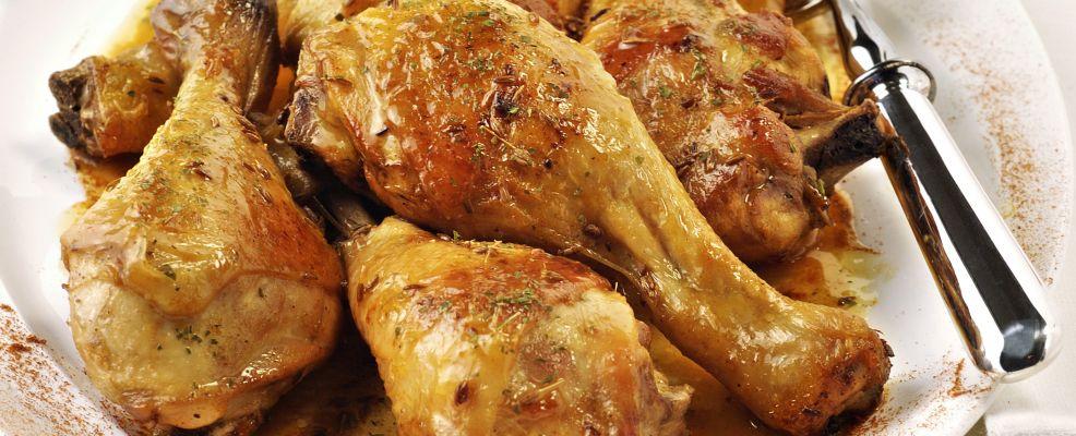 Cosce di pollo speziate arrosto