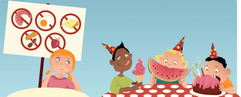 intolleranze cibo cartoon