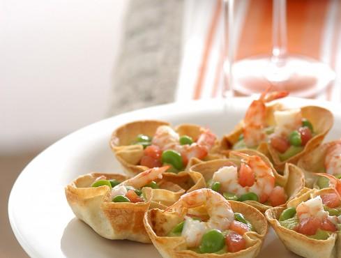 cestini-fave-gamberi ricetta Sale&Pepe