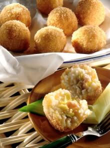 Arancini di riso con i gamberetti