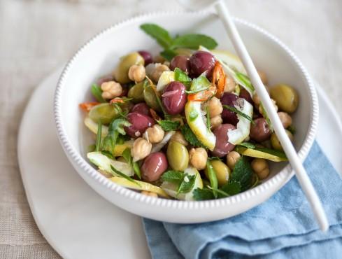 insalata ceci olive limone ricetta Sale&Pepe