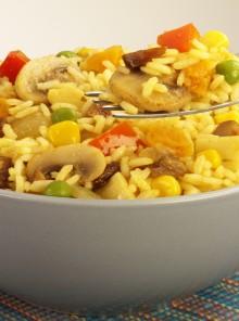 Insalata di riso allo zafferano