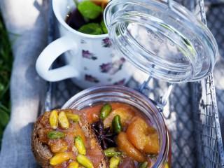 Confettura-pesche-zenzero-pistacchi ricetta Sale&Pepe