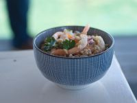 Insalata-farro- fagioli-mazzancolle-aromi ricetta Sale&Pepe