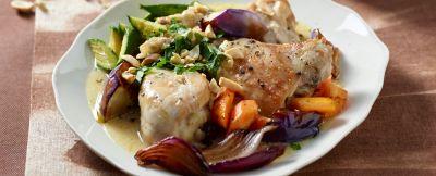 Pollo-brasato-cocco-arachidi-verdure