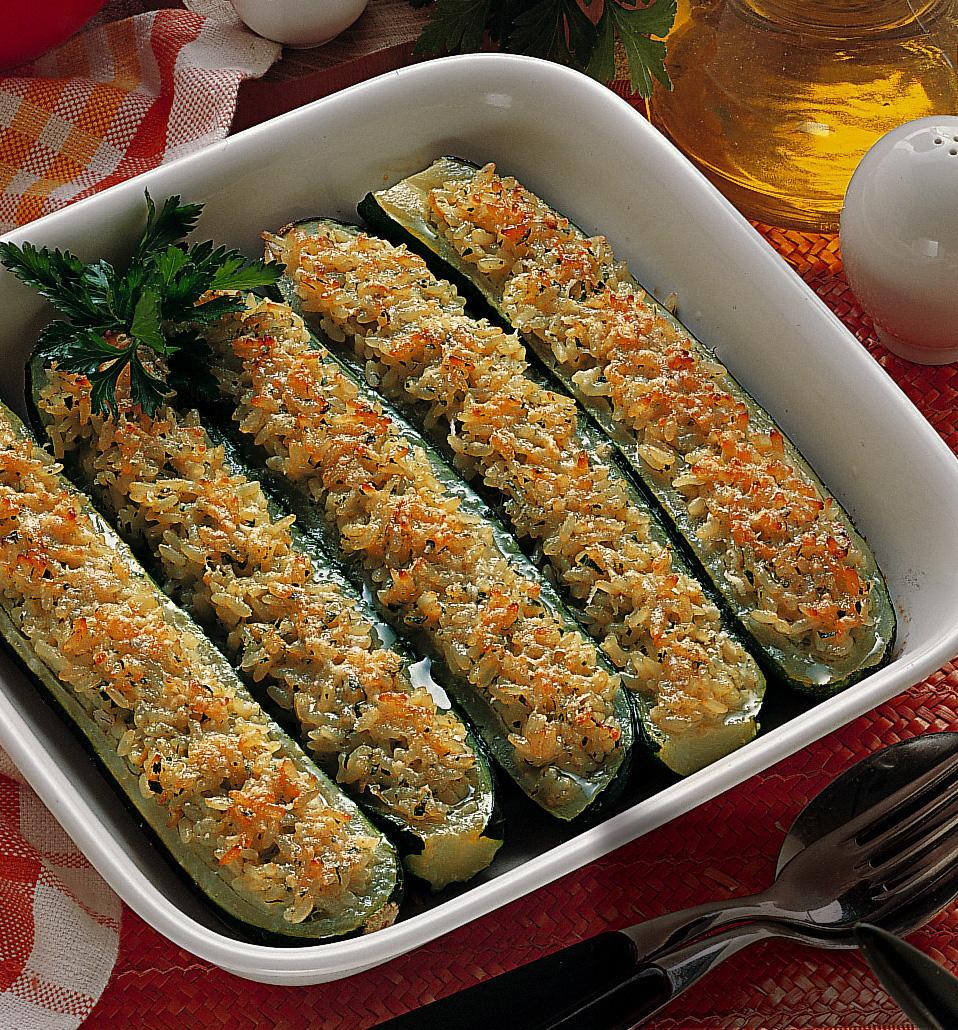 Zucchine ripiene di riso sale pepe for Ricette culinarie