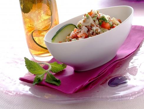 Taboule di riso bianco e rosso ricetta Sale&Pepe