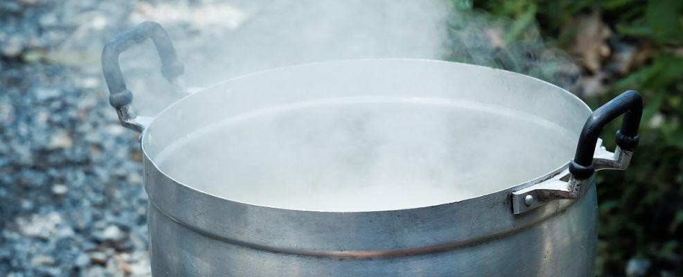 pentolone in cottura