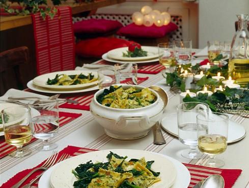 Ravioli di pesce con spinaci