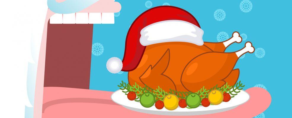 bocca Babbo Natale ingordo