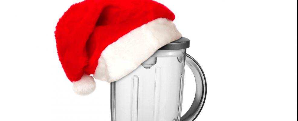 frullatore con cappello Babbo Natale